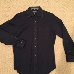 Banana Republic Black Button-Down (M)